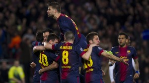 Barcelona celebrate another victory