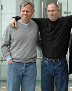 Ron Johnson in better days with Steve Jobs
